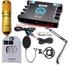 Combo Micro Bm900, sound card K10 , full phụ kiện