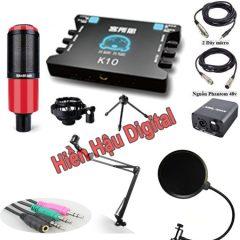 Combo micro thu âm Takstar PC-K320, sound card XOX K10, full phụ kiện