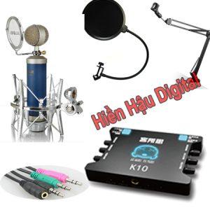 Combo micro Libablue LD-K950, sound card XOX K10, full phụ kiện