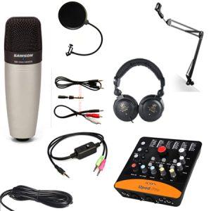 Combo micro Samson C01, sound card Icon Upod Pro, đầy đủ phụ kiện