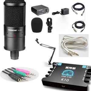 Combo micro Takstar sm-8b, sound card K10, full phụ kiện