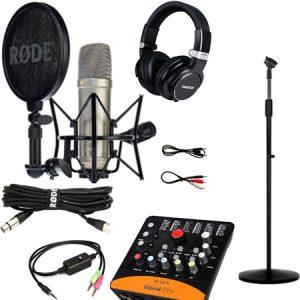 Combo micro thu âm chuyên nghiệp Rode NT1A, sound card Icon UPod Pro và phụ kiện