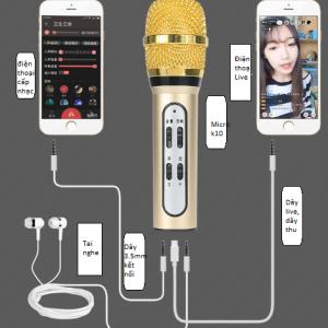 Micro K10 tích hợp cả sound card hỗ trợ thu âm, hát live