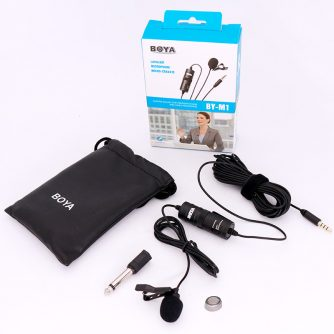 BOYA-BY-M1-Lavalier-Audio-Video-Microphone-Clip-On-Condenser-Mic-Recorder-for-iPhone-X-8