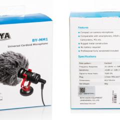 Micro Boya BY-MM1 cho máy ảnh, camera dslr, điện thoại