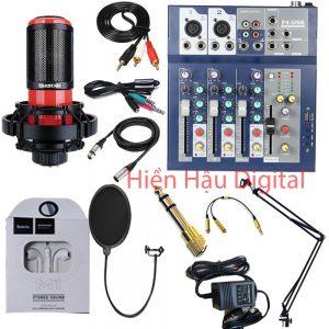 Combo Mixer F4, micro Takstar K320 và phụ kiện.