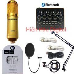 Combo micro Bm900, sound card V10 Plus và phụ kiện