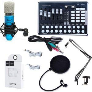 Combo sound card H9 và micro ISK AT100 chính hãng