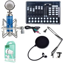 Combo Sound card H9 và micro Libablue LD-K900