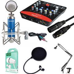 Combo Sound card Icon Upod Pro, Micro Libablue LD K950 và phụ kiện