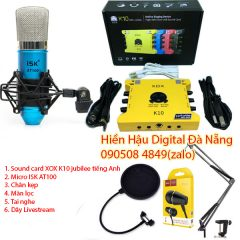 Combo K10 2020, micro ISK AT100 và phụ kiện